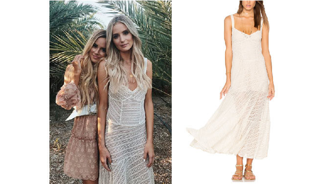 Lauren Bushnell, The Bachelor, celebrity style, star style, Lauren Bushnell outfits, Lauren Bushness fashion, Lauren Bushnell Style, shop your tv, @laurenbushnell, worn on tv, tv fashion, clothes from tv shows, tv outfits, free people love story slip, cream lace slip dress, stagecoach 2017, coachella 2017