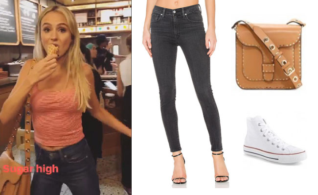 Lauren Bushnell, The Bachelor, celebrity style, star style, Lauren Bushnell outfits, Lauren Bushnell fashion, Lauren Bushnell Style, shop your tv, @laurenbushnell, worn on tv, tv fashion, clothes from tv shows, tv outfits, Levi's skinny jeans, minkoff messenger bag, tan bag, sand bag, converse chuck taylor high top sneakers