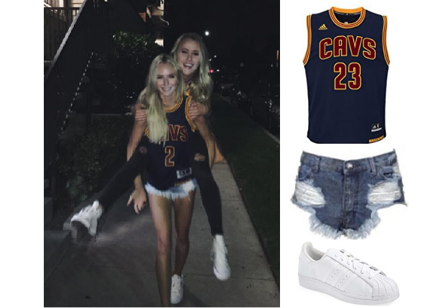 size 40 9e3ee 5dd36 Lauren Bushnell`s Cleveland Cavaliers Jersey, Jean Shorts ...