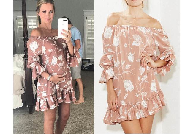 Southern Charm, Southern Charm style, Cameran Eubanks, Cameran Eubanks, Cameran Eubanks fashion, Cameran Eubanks wardrobe, Cameran Eubanks Style, @camwimberly1, #cameraneubanks, #SC, #southerncharm, Cameran Eubanks outfit, shop your tv, the take, worn on tv, tv fashion, clothes from tv shows, Southern Charm outfits, bravo, Season 4, star style, steal her style, roe + may dusty rose dress, roe + may poppy mini, roe + may floral skirt and top, Cameran's pregnancy dress, Cameran's maternity style