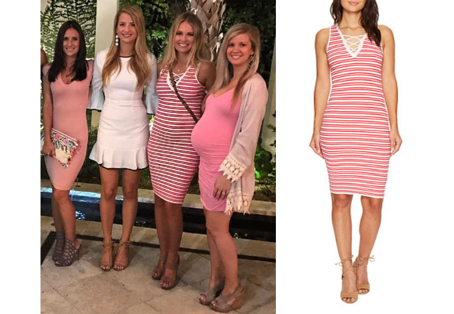 ... , red and white striped dress, bishop + young lace up sweater dress