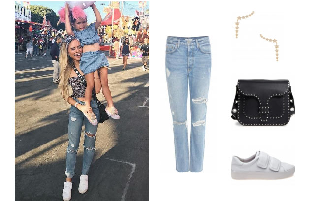 Amanda Stanton, The Bachelor, celebrity style, star style, Amanda Stanton outfits, Amanda Stanton fashion, Amanda Stanton style, shop your tv, @amanda_stantonn, worn on tv, tv fashion, clothes from tv shows, tv outfits,amanda stanton bachelor, amanda stanton instagram, amanda stanton jeans, grlfnd jeans, rebecca minkoff messenger bag, jslides sneakers