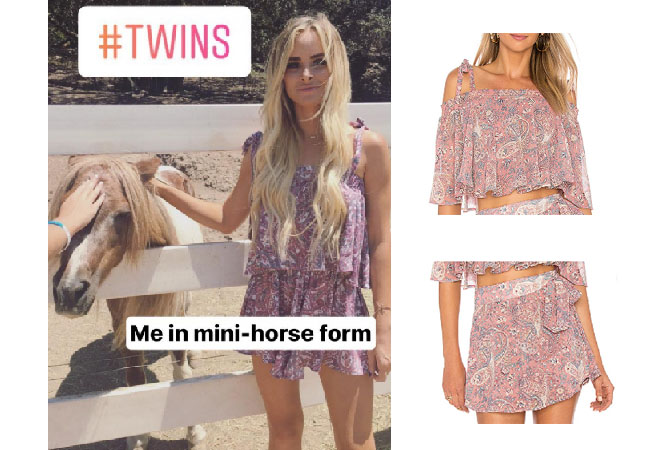 Amanda Stanton, The Bachelor, celebrity style, star style, Amanda Stanton outfits, Amanda Stanton fashion, Amanda Stanton style, shop your tv, @amanda_stantonn, worn on tv, tv fashion, clothes from tv shows, tv outfits, Amanda Stanton bachelor, Amanda Stanton instagram, Amanda Stanton 2017, Show me Your Mumu Paisley top and shorts