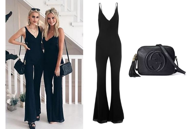 Lauren Bushnell, The Bachelor, celebrity style, star style, Lauren Bushnell outfits, Lauren Bushnell fashion, Lauren Bushnell Style, shop your tv, @laurenbushnell, worn on tv, tv fashion, clothes from tv shows, tv outfits, Haney black jumpsuit, Gucci Soho disco bag, Lauren Bushnell's black bag, Lauren Bushnell`s black jumpsuit, Lauren Bushnell in the Hamptons