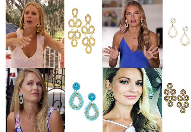 Southern Charm, Southern Charm style, Cameran Eubanks, Cameran Eubanks,  Cameran Eubanks fashion, Cameran Eubanks wardrobe, Cameran Eubanks Style,  @camwimberly1, #cameraneubanks, #SC, #southerncharm, Cameran Eubanks  outfit, shop your tv, the take,  worn on tv, tv fashion, clothes from tv shows, Southern Charm outfits, bravo, Season 4, star style, steal her style, lisi lerch earrings, Cameran's earrings, Cameran's chandelier earrings, Cameran's Gold earrings, Lisi Lerch Ginger earrings, Lisi Lerch Kate earrings