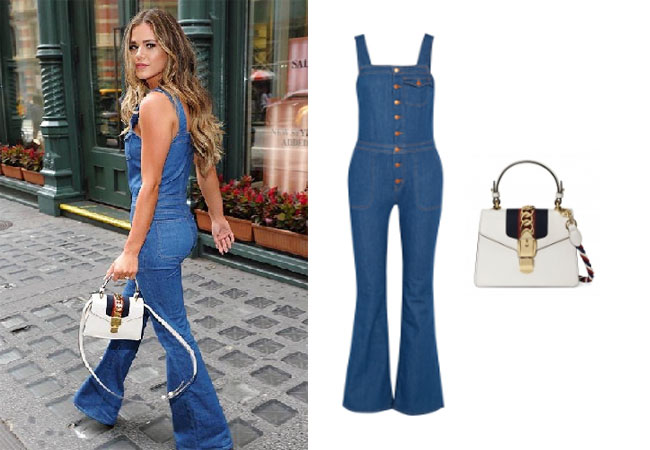 JoJo Fletcher, The Bachelorette, celebrity style, star style, JoJo Fletcher outfits, JoJo wardrobe, JoJo Fletcher fashion, Jo Jo Fletcher style, shop your tv, @joelle_fletcher, worn on tv, tv fashion, clothes from tv shows, tv outfits, The Bachelor, #bachelornation, Bachelor in Paradise, #BIP, MIH Jeans denim overalls, Gucci Sylvie handbag