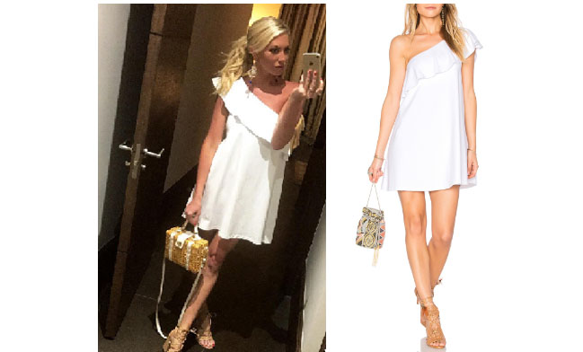 Vanderpump Rules, Stassi Schroeder style, Stassi Schroeder, Stassi Schroeder fashion, @stassischroeder, bravotv.com, #pumprules, Stassi Schroeder outfit, steal her style, shop your tv, the take, worn on tv, tv fashion, clothes from tv shows, Vanderpump Rules outfits, bravo, reality tv clothes, Vanderpump Rules clothes, Stassi Schroeder clothes, as seen on tv, Vanderpump Rules clothes, Stassi Schroeder instagram, Susana Monaco Arwen dress, Stassi white ruffle dress