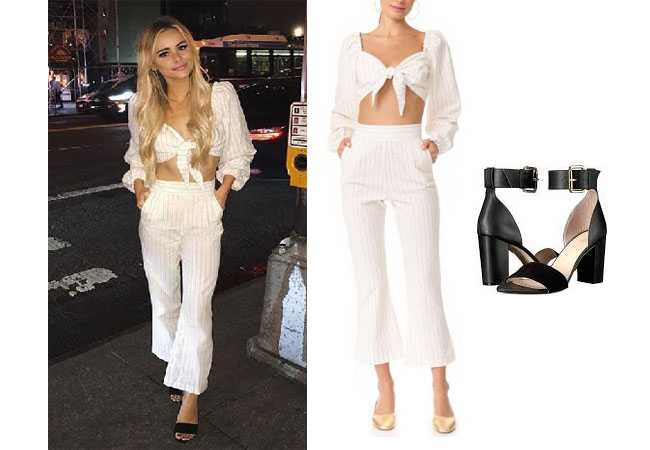 Amanda Stanton, The Bachelor,  celebrity style, star style, Amanda Stanton outfits, Amanda Stanton fashion, Amanda Stanton style, shop your tv, @amanda_stantonn, worn on tv, tv fashion, clothes from tv shows, tv outfits, Bachelor In Paradise 2017, Bachelor In Paradise Season 4, Bachelor In Paradise clothes, #BIP, #bachelorinparadise, Amanda Stanton Instagram, Stone Cold Fox Haven Crop Top, Stone Cold Fox Isla Trousers, Raye Leia sandals