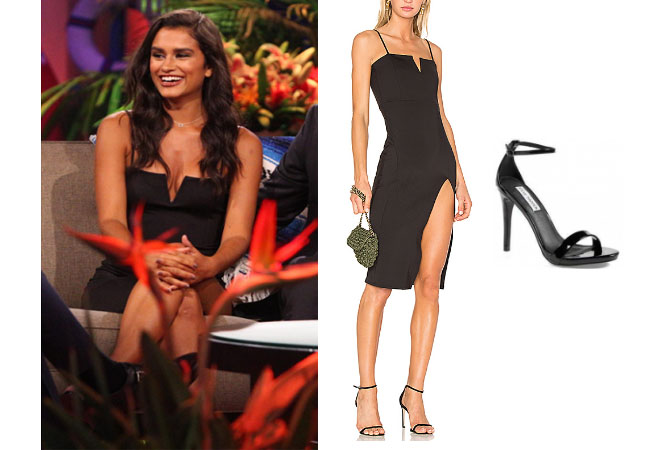 Taylor Nolan, Bachelor in Paradise 2017, #BIP, #bachelornation, #bachelorinparadise, Taylor Nolan clothes, Taylor Nolan outfits, shop your tv, as seen on tv, worn on tv, tv fashion, clothes from tv shows, tv outfits, reality tv outfits, reality celebrity stars, Bachelor In Paradise 2017, Bachelor In Paradise scandal, Taylor's black dress finale, Taylor's black dress, Taylor Nolan's black dress, Taylor Nolan engaged, Donna Mizani Penelope dress, Steve Madden stecy sandals, Taylor Nolan's black sandals