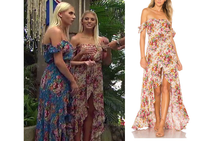 Emily Ferguson, The Bachelor,  celebrity style, star style, Emily Ferguson outfits, Emily Ferguson fashion, Emily Ferguson style, shop your tv, The Bachelor, The Bachelorette, worn on tv, tv fashion, clothes from tv shows, tv outfits, Bachelor In Paradise 2017, Bachelor In Paradise Style, #BIP, Auguste Willow Day Dress, Emily's floral dress