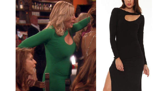 Real Housewives of Orange County, RHOC, Vickie Gunvalson, Vicki Gunvalson fashion, Vicki Gunvalson wardrobe, Vicki Gunvalson style, #RHOC, #RealHousewivesOrangeCounty, Season 12, shop your tv, the take, bravotv.com, worn on tv, tv fashion, clothes from tv shows, Real Housewives of Orange County outfits, bravo, reality tv clothes, as seen on tv, Real Housewives of Orange County Season 12, Real Housewives clothes, Sen Couture Kacey dress, Vicki Gunvalson's green dress