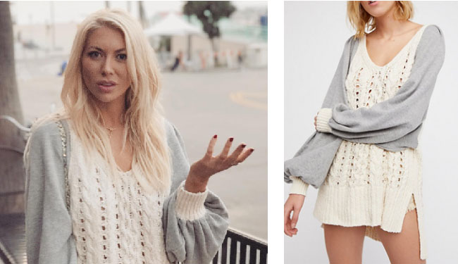 Vanderpump Rules, Stassi Schroeder style, Stassi Schroeder, Stassi Schroeder fashion, @stassischroeder, bravotv.com, #pumprules, Stassi Schroeder outfit, steal her style, shop your tv, the take, worn on tv, tv fashion, clothes from tv shows, Vanderpump Rules outfits, bravo, reality tv clothes, Vanderpump Rules clothes, Stassi Schroeder clothes, as seen on tv, Vanderpump Rules clothes, Stassi Schroeder instagram, Free People Hideaway Cable Pullover, Stassi's cream sweater, Stassi's Vanderpump Rules, #VPR