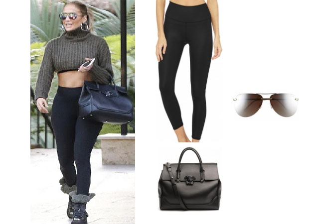 Jennifer Lopez outfits, Jennifer Lopez style, Jennifer Lopez fashion, Jennifer Lopez outfits, Jennifer Lopez clothes, @jlo, Dancing With The Stars outfit, celebrity style, celebrity fashion, Jennifer Lopez instagram, Jennifer net worth, Jennifer Lopez Alex Rodriguez, Jlo and Arod, Jennifer Lopez age, Alo high waist leggings, Versace large Palazzo bag, Quay sunglasses
