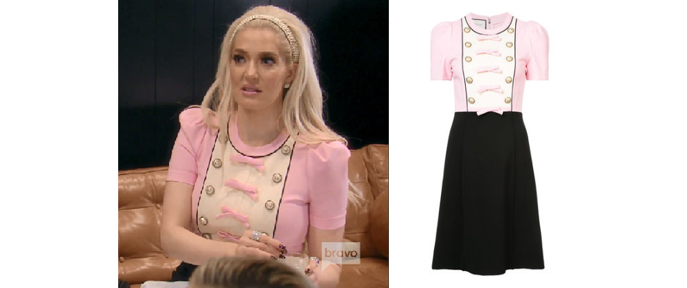 08b3c85c5 Erika Girardi (Jayne) of the Real Housewives of Beverly Hills wore this Gucci  pink dress on Season 8, Episode 10.