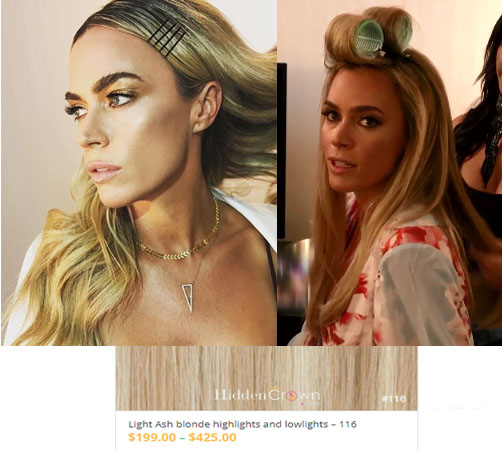 Real Housewives of Beverly Hills, RHBH, RHOBH, Teddi Mellencamp, Teddu Mellencamp, Teddi Mellencamp fashion, Teddi Mellencamp style, Teddi Mellencamp wardrobe, #RHOBH, #RealHousewivesBeverlyHills,  steal her style, the take, shop your tv, worn on tv, tv fashion, clothes from tv shows, Real Housewives of Beverly Hills outfits, bravo, reality tv clothes, Season 8, designer, Gucci, Vintage, Teddi Mellencamp's hair extensions, Teddi Mellencamp's hair, Hidden Crown Hair Extensions