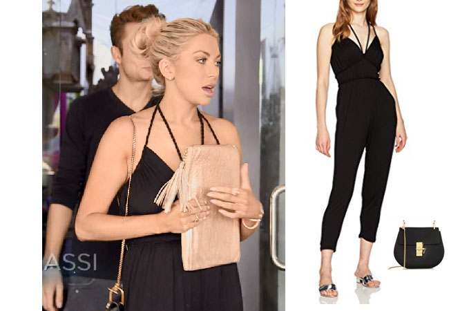 Vanderpump Rules, Stassi Schroeder style, Stassi Schroeder, Stassi Schroeder fashion, @stassischroeder, bravotv.com, #pumprules, Stassi Schroeder outfit, steal her style, shop your tv, the take, worn on tv, tv fashion, clothes from tv shows, Vanderpump Rules outfits, bravo, reality tv clothes, Vanderpump Rules clothes, Stassi Schroeder clothes, as seen on tv, Vanderpump Rules clothes, Stassi Schroeder instagram, season 6, ella moss bella knot jumpsuit, ella moss black jumpsuit