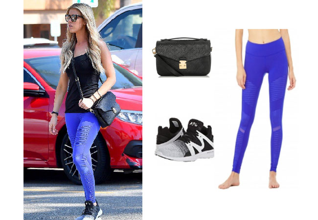 Christina El Moussa, Flip or Flop, Celebrity Outfits, Celebrity Style, Reality TV, Reality TV outfits, shop your tv, steal her style, the take, worn on tv, tv fashion, reality wardrobe, Alo leggings, Louis Vuitton pouchette, APL Ascend sneakers