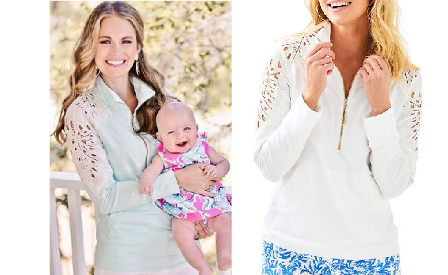 Southern Charm, Southern Charm style, Cameran Eubanks, Cameran Eubanks,  Cameran Eubanks fashion, Cameran Eubanks wardrobe, Cameran Eubanks Style,  @camwimberly1, #cameraneubanks, #SC, #southerncharm, Cameran Eubanks  outfit, shop your tv, the take,  worn on tv, tv fashion, clothes from tv shows, Southern Charm outfits, bravo, Season 5, star style, steal her style, Lilly Pulitzer Skipper Solid Popover, Lilly Pulitzer lace jacket,