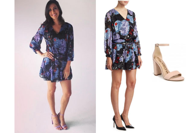 Becca Kufrin, The Bachelor, The Bachelorette, Bachelor in Paradise, #BIP, celebrity style, celebrity fashion, star style, starstyle, Becca Kufrin outfits, Becca Kufrin fashion, Becca Kufrin style, shop your tv, worn on tv, as seen on tv, where to get, clothes from tv shows, tv outfits, The Bachelorette 2018, Alice + Olivia Tessie Drop dress, Sam Edelman yaro ankle sandal