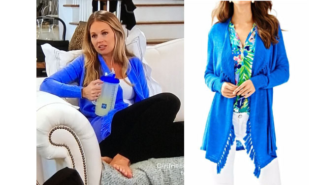 Southern Charm, Southern Charm style, Cameran Eubanks, Cameran Eubanks,  Cameran Eubanks fashion, Cameran Eubanks wardrobe, Cameran Eubanks Style,  @camwimberly1, #cameraneubanks, #SC, #southerncharm, Cameran Eubanks  outfit, shop your tv, the take,  worn on tv, tv fashion, clothes from tv shows, Southern Charm outfits, bravo, Season 5, star style, steal her style, Lilly Pulitzer Lucita Lapis Cardigan, Cameran's blue cardigan