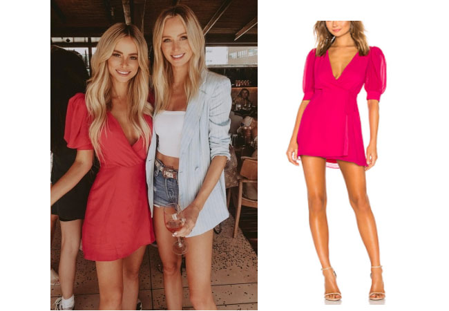 Amanda Stanton, The Bachelor,  celebrity style, star style, Amanda Stanton outfits, Amanda Stanton fashion, Amanda Stanton style, shop your tv, @amanda_stantonn, worn on tv, tv fashion, clothes from tv shows, tv outfits, Bachelor In Paradise 2017, Bachelor In Paradise Season 4, Bachelor In Paradise clothes, #BIP, #bachelorinparadise, Amanda Stanton Instagram, LPA Double Layer Dress, Amanda Stanton's Pink Dress, Revolve Brunch August 30, 2018
