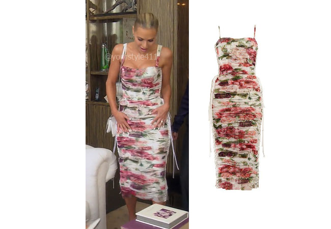 fortnite, Real Housewives of Beverly Hills, RHOBH, Dorit Kemsley, Season 9, Dorit Kemsley's outfit, celebrity outfits, reality tv shows, Real Housewives of Beverly Hills outfits, bravo, reality tv clothes, Dolce and Gabbana floral dress, Dorit's floral dress, Dolce and Gabbana lace-up floral dress
