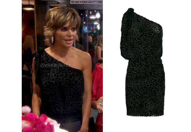 fortnite, Real Housewives of Beverly Hills, RHOBH, Lisa Rinna, Season 9, Lisa Rinna's outfit, celebrity outfits, reality tv shows, Real Housewives of Beverly Hills outfits, bravo, reality tv clothes, Iro Moon Leopard Dress, Lisa Rinna's black dress