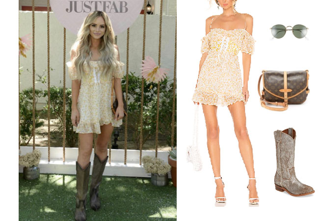 Coachella, Amanda Stanton, The Bachelor, The Bachelorette, Stagecoach, #coachellaoutfit, #festivals, #coachella2019, The Bachelorette, Bachelor In Paradise, festival outfits, Stagecoach outfits, For Love of Lemons Corset Dress, Frye Billy Boots, Louis Vuitton Saumur bag, Ray Ban 53mm sunglasses