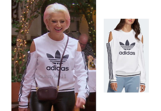 fortnite, Real Housewives of New York, #rhony, rhony, Dorinda Medley, RHOBH, RHOC, star style, realitytv, bravotv, Adidas Cutout top, Dorinda's cutout top