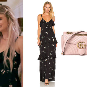 Southern Charm, Bravo TV, Cameran Eubanks, Star Style, fortnite, Game of Thrones, Cameran Eubanks' outfit, Cameran Eubanks clothes, Eliza Limehouse, celebrity outfit, ootd, Eliza's Black floral Dress, ALC Zaydena Dress, Gucci Marmont Bag, Eliza's Pink Bag