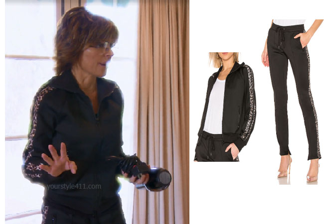 fortnite, Real Housewives of Beverly Hills, RHOBH, Lisa Rinna, Season 9, Lisa Rinna's outfit, celebrity outfits, reality tv shows, Real Housewives of Beverly Hills outfits, bravo, reality tv clothes, Lisa Rinna's leopard stripe tracksuit, Pam and Gela Leopard Striped Track Jacket, Pam and Gela Leopard Stripe Pants, #GOT, Game of Thrones