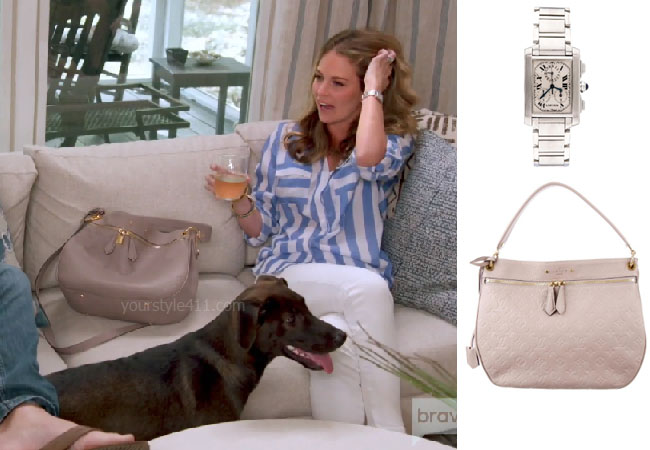 Southern Charm, Bravo TV, Cameran Eubanks, Star Style, fortnite, Game of Thrones, Cameran Eubanks' outfit, Cameran Eubanks clothes, celebrity outfit, ootd, Jcrew blazer, Cameran's taupe bag, Cameran's watch, Louis Vuitton Spontini Bag, Cartier Tank Francaise Watch