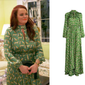 Southern Charm, Bravo TV, Kathryn Dennis, Star Style, fortnite, Game of Thrones, Naomie Orlindo's green dress, Kathryn Dennis' actress, Kathryn Dennis' outfit, Milly silk printed dress