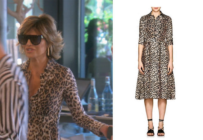 fortnite, Real Housewives of Beverly Hills, RHOBH, Lisa Rinna, Season 9, Lisa Rinna's outfit, celebrity outfits, reality tv shows, Real Housewives of Beverly Hills outfits, bravos, Lisa Rinna's leopard dress, Barneys New York Leopard Print Silk Shirtdress