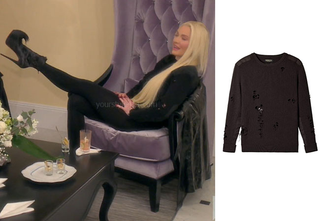 fortnite, Real Housewives of Beverly Hills, RHOBH, Erika Girardi, Season 9, Erika Girardi's outfit, celebrity outfits, reality tv shows, Real Housewives of Beverly Hills outfits, bravo, reality tv clothes, Erika Jayne, Erika's Halloween Costume, Erika's black leather skirt, Erika's black top, courreges oversized logo t-shirt, courreges patent leather mini skirt