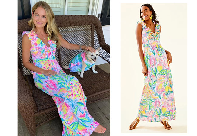 Southern Charm, Bravo TV, Cameran Eubanks, Star Style, fortnite, Game of Thrones, Cameran Eubanks' outfit, Cameran's floral dress, Lilly Pulitzer Leena Maxi Dress