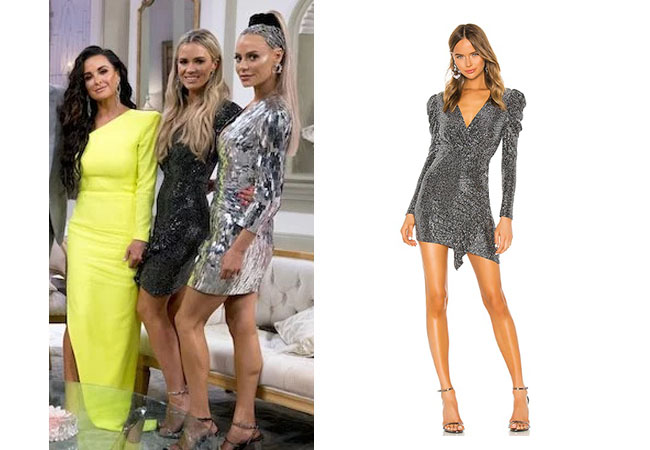 fortnite, Real Housewives of Beverly Hills, RHOBH, Teddi Mellencamp, Season 9, Teddi Mellencamp's outfit, celebrity outfits, reality tv shows, Real Housewives of Beverly Hills outfits, bravo, reality tv clothes, Teddi Mellencamp grey dress at reunion, IRO Loulou dress