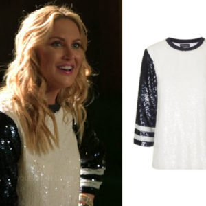 The Hills: New Beginnings, Stephanie Pratt, Heidi Montag, Topshop Black and White Sequin Top