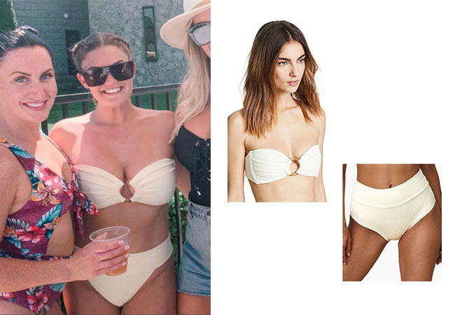 Vanderpump Rules, Brittany Cartwright, Jax, #pumprules, Lisa Vanderpump, LVP, Montce High Rise Banded Bikini Bottom, Montce Tori Bikini Top