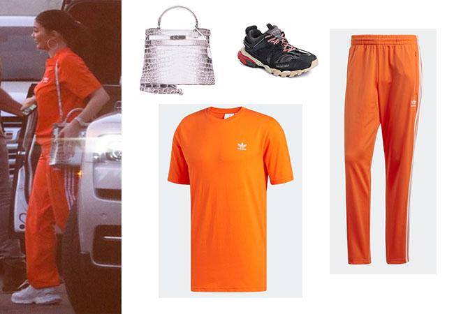 adidas shirt orange pants