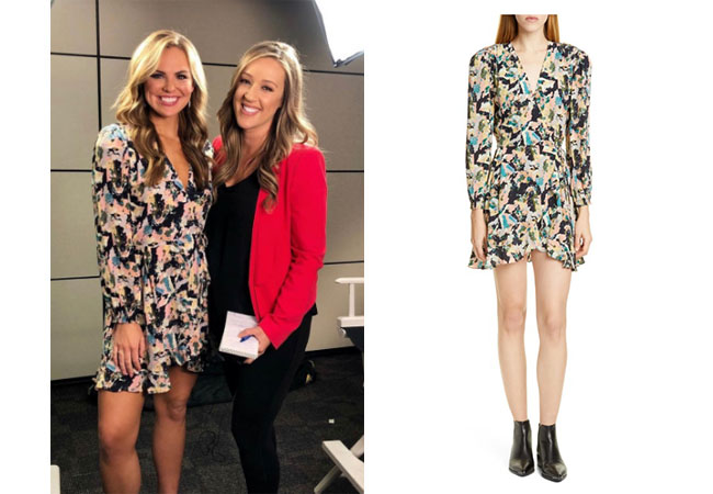 The Bachelorette, The Bachelor, Bachelor In Paradise, Bachelor Nation, Hannah Brown, Hannah Brown's long sleeve wrap dress on Inside Edition on July 31, 2019,