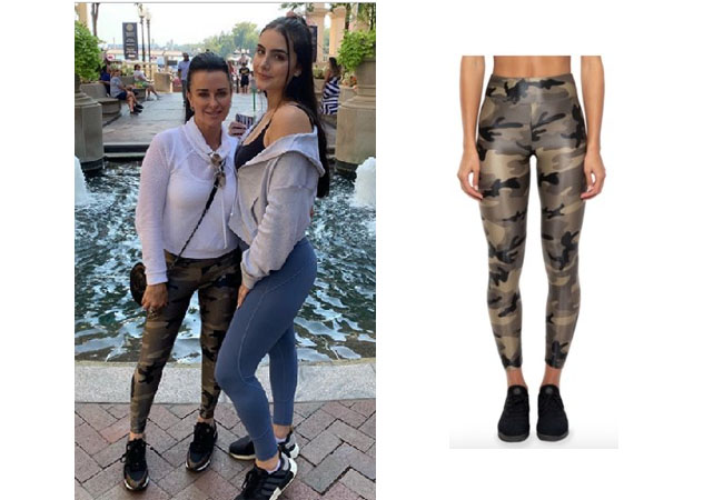 Kyle Richards, Real Housewives of Beverly Hills, RHOBH, Kyle Richards Instagram, Bravo TV, Kyle's Camo Leggings, Koral Lustrous High Rise Leggings