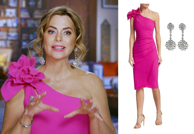 D'Andra Simmons, Real Housewives of Dallas, RHOD. Season 4 Real Housewives of Dallas, Bravo TV, Bravo Nation, Chiara Boni La Petite Robe Gosia Dress, D'Andra's Pink Dress in Testimonial