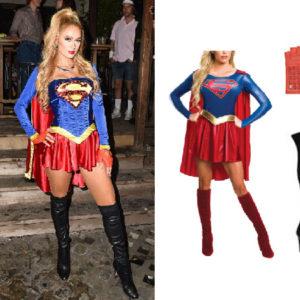 Paris Hilton, Paris Hilton's Halloween Costume, Superwoman Halloween Costume, Supergirl Halloween Costume, Halloween 2019, Celebrity Halloween Costumes, Casamigos Halloween Party