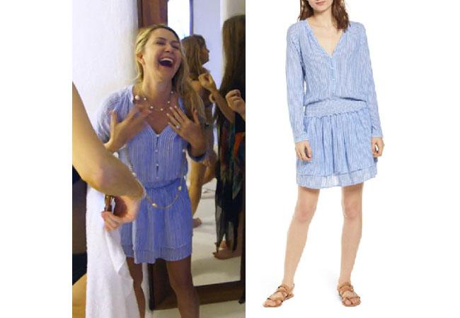 Kary Brittingham, Real Housewives of Dallas, RHOD, Realhousewives, Kary Brittingham's red jumpsuit, Season 4, RHOD Season 4, Kary's blue dress in Mexico, Rails Jasmine Shirtdress