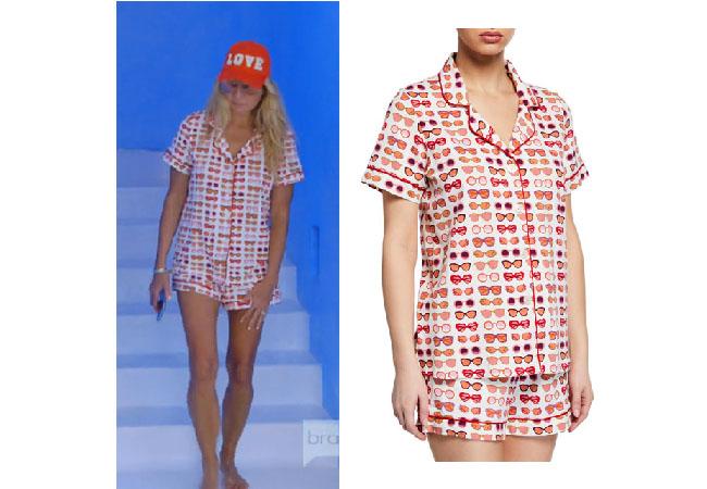Kary Brittingham, Real Housewives of Dallas, RHOD, Realhousewives, Kary Brittingham's red jumpsuit, Season 4, RHOD Season 4, Kary's sunglasses pajamas, Bedhead Sunnies Pajama Set