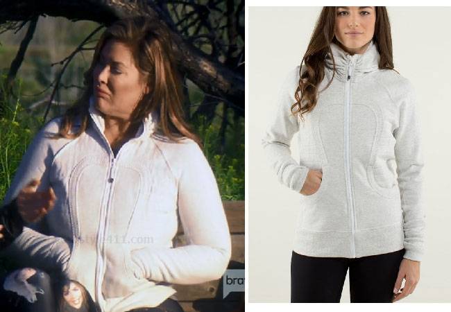 Emily Simpson, Real Housewives of Orange County, RHOC, Kelly Dodd's outfit, Kelly Dodd's clothes, Tamra Judge, Bravotv, Bravo Nation, Season 14, Emily's White Jacket in Arizona, Lululemon Calm and Cozy Jacket