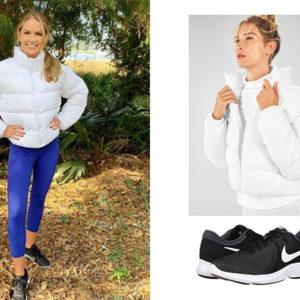 Cameran Eubanks, Southern Charm, Fabletics Wander Puffer Jacket, Nike Revolution 4 Sneakers