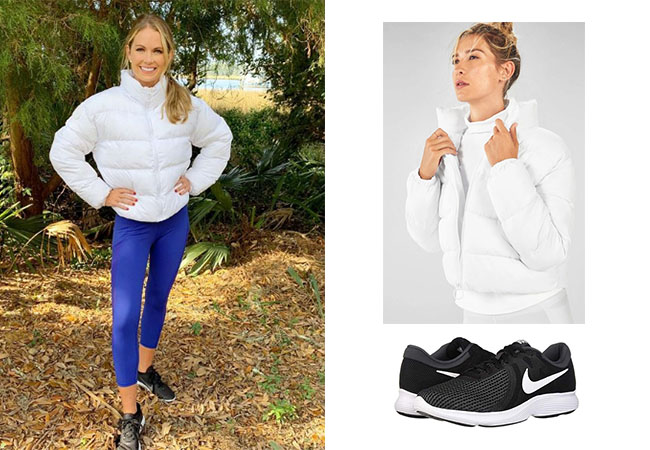 Cameran Eubanks, Southern Charm, Fabletics Wander Puffer Jacket, Nike Revolution 4 Sneakers