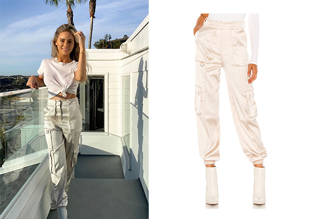 Amanda Stanton, The Bachelor, The Bachelorette, Bachelor In Paradise, #BIP, X by NBD Harvest Pink, Amanda Stanton on Instagram, @amanda_stantonn, Amanda Stanton's joggers, H:ours port joggers